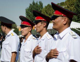 Nationalhymne Kirgistan Polizei Unabhängigkeit