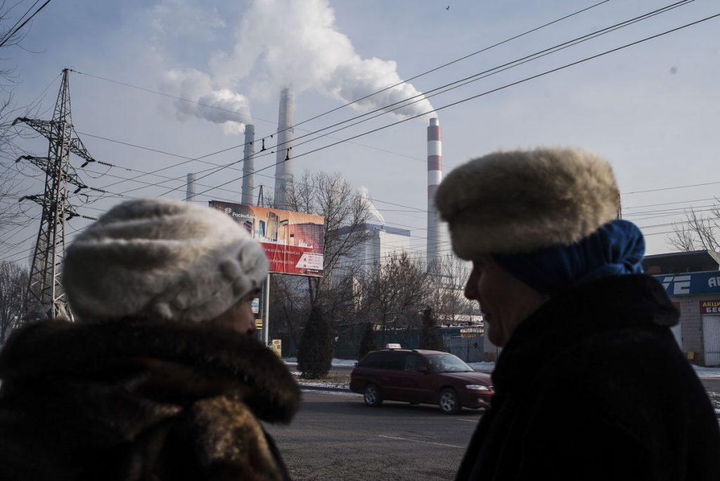 Wärmekraftwerk, Bischkek, Energie, Rauch, Schornsteine