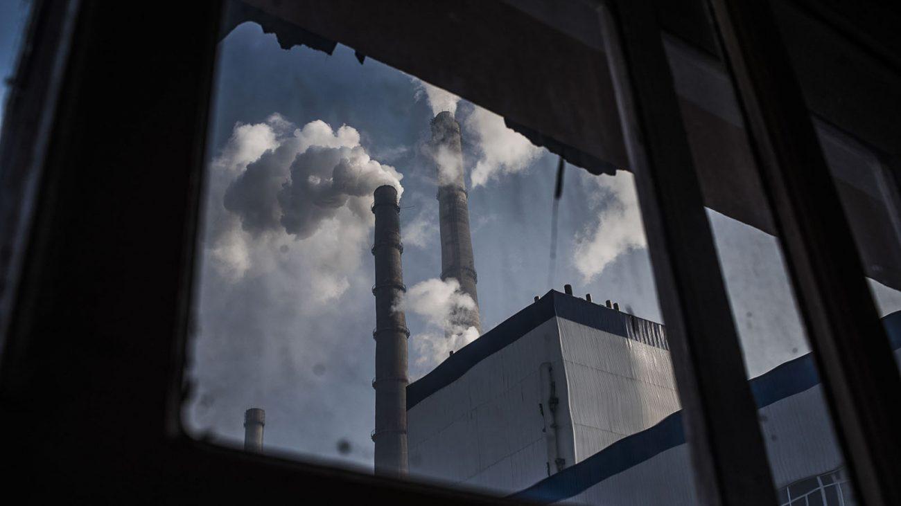 Wärmekraftwerk, Schornstein, Rauch