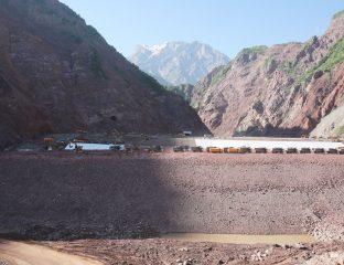 Rogun Staudamm Baustelle