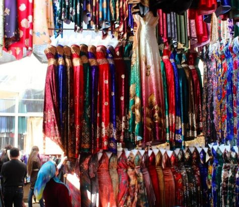 Margilon Usbekistan Stoffe Markt