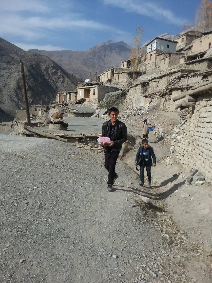 Woru Dorf Tadschikistan Wege