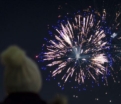 Feuerwerk Astana Kasachstan Unabhängigkeit