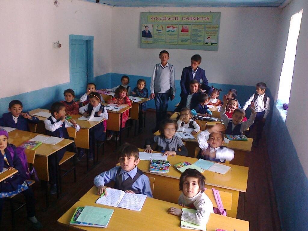 Woru Dorf Tadschikistan Dorfschule Migration