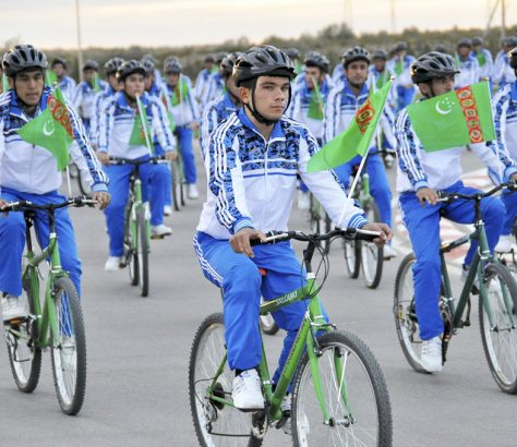 Fahrrad Ereignis Turkmenistan