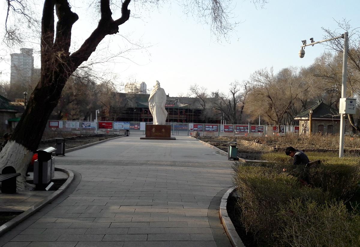 Konfuzius Statue in Urumqi
