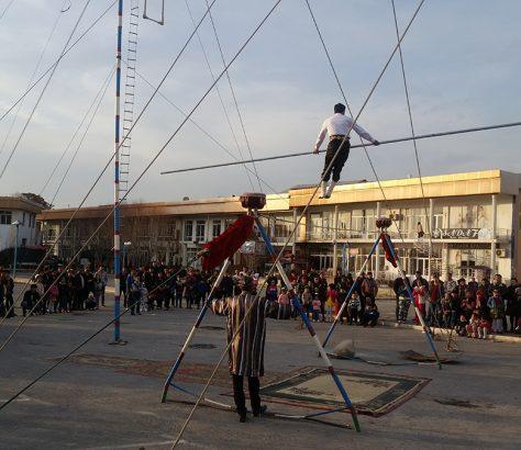 Seiltänzer Fergana Usbekistan Zirkus