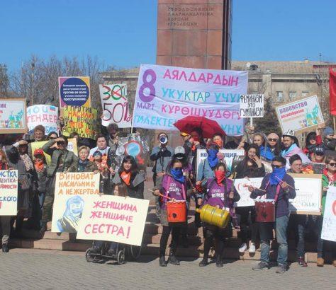 Demo, Bischkek, Frauentag