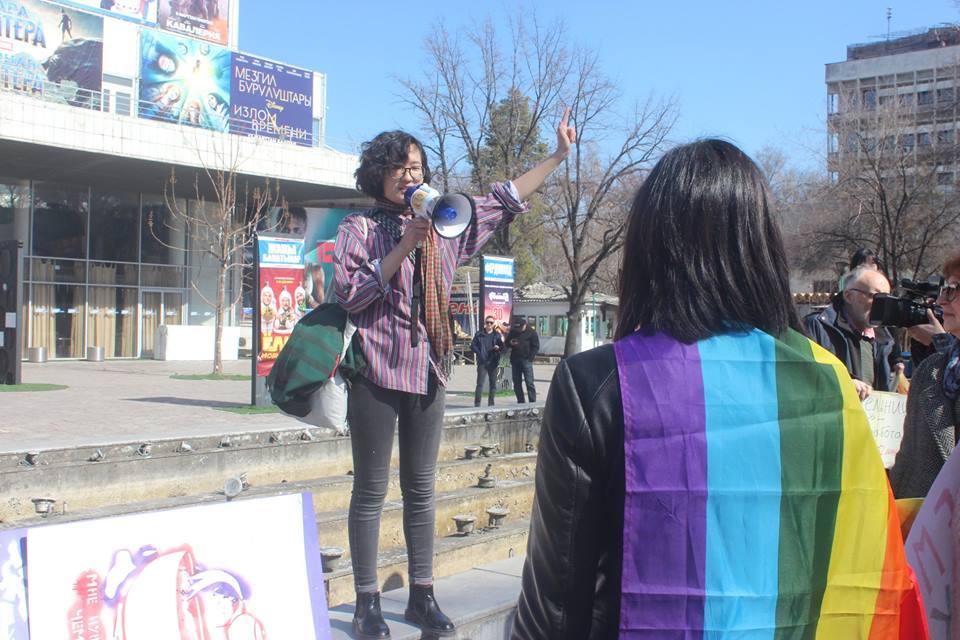 Demo, Bischkek, Frauenrechte