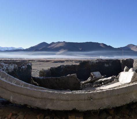Nebel Tadschikistan Karakul See Bergen