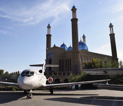 Öskemen Kasachstan Moschee Flug