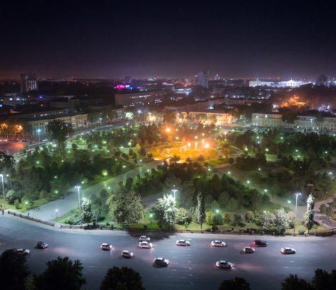 Taschkent bei Nacht