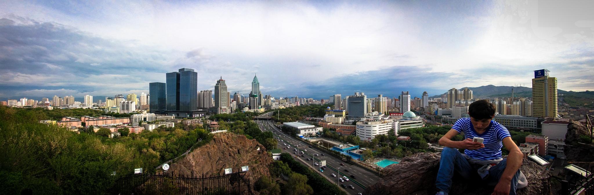 Die Skyline von Urumqi