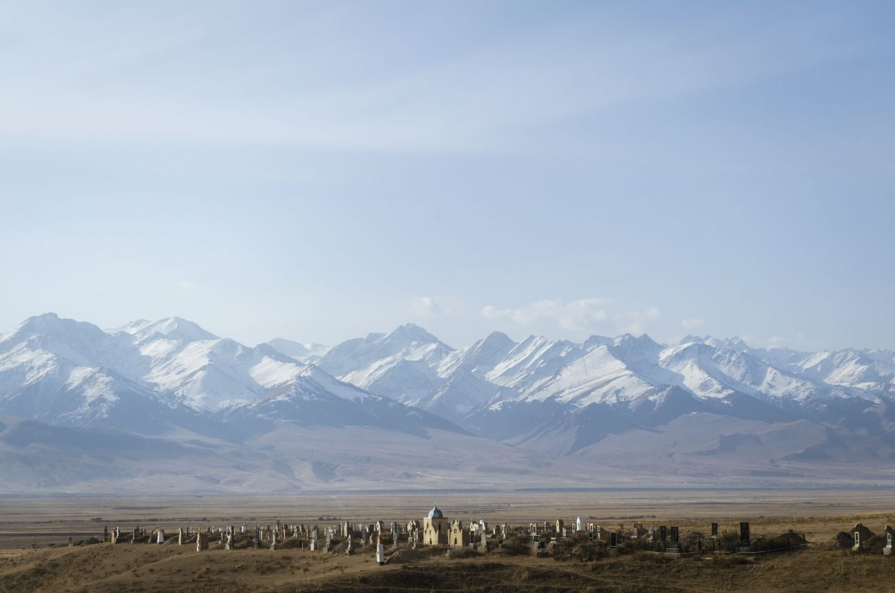 Kirgistan Naryn Friedhof Bergen