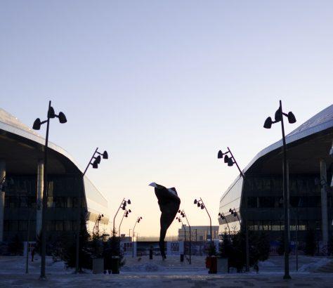 Expo 2017 Astana Kasachstan Sonnenuntergang