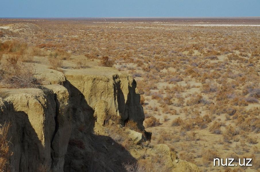 Aralsee gestern Steppe