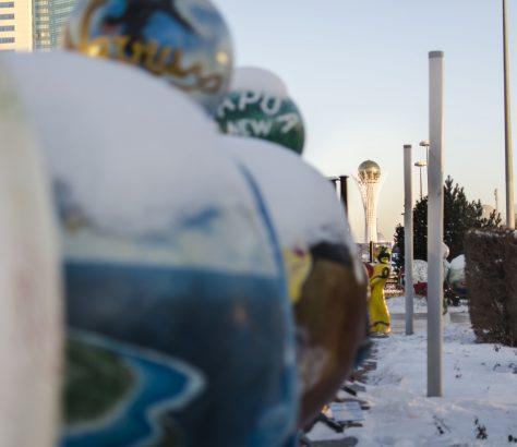 Astana Kasachstan Expo 2017 Statuen