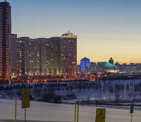 Astana Kasachstan Schnee Winter
