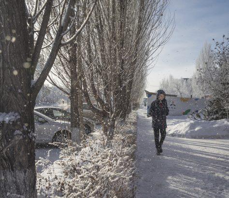 Astana Kasachstan Winter Kälte