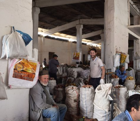 Kaufleute Basar Istarawshan Tadschikistan