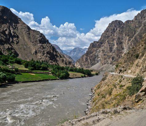 Fluss Grenze Afghanistan Tadschikistan Pandsch