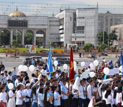 Demonstration gegen Brautraub in Kirgistan