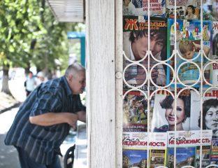 An einem Kiosk in Almaty