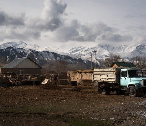 Automobile Gärten Sowjetunion Kirgistan