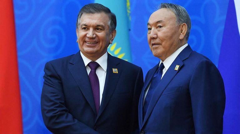 Der usbekische Präsident Schawkat Mirsijojew und sein kasachischer Amtskollege Nursultan Nasarbajew