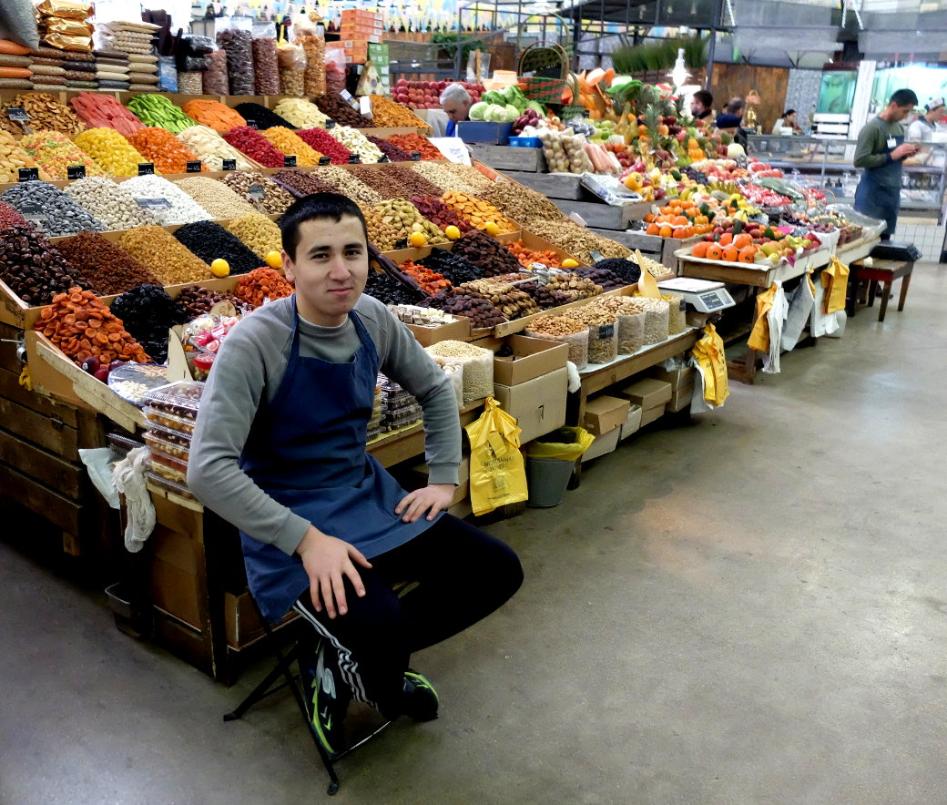 Marktverkäufer in Moskau