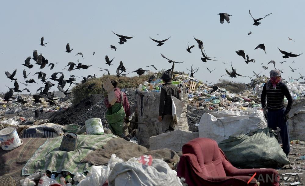 Illegale Mülldeponie Bischkek Kirgistan