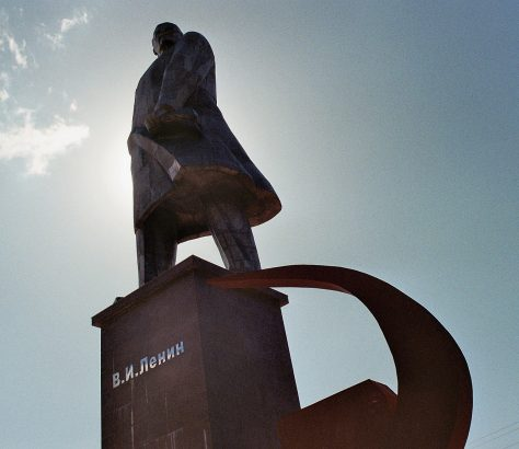 Chudschand Tadschikistan Leninabad Lenin Statue Sowjetunion