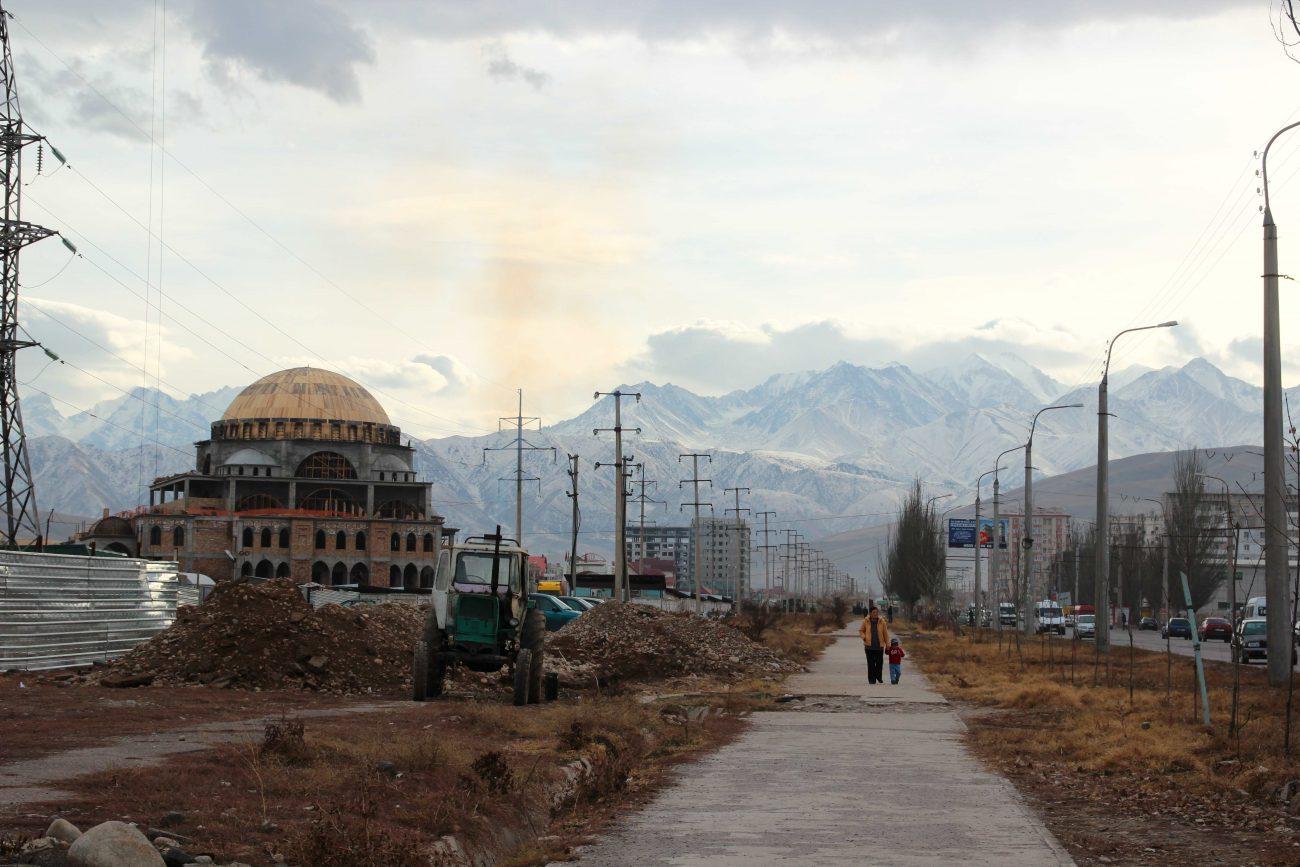 Moschenbaau in Kirgistan finanziert unter Anderem durch Saudi-Arabien