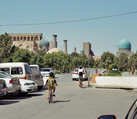 Fahrrad Registan Samarkand Usbekistan