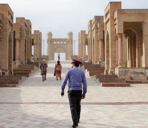 Festung Polizist Hissor Tadschikistan Bild des Tages