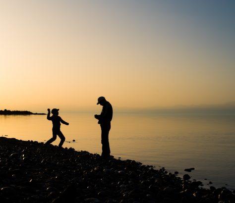 Issikkölsee Kirgistan Sonnenuntergang