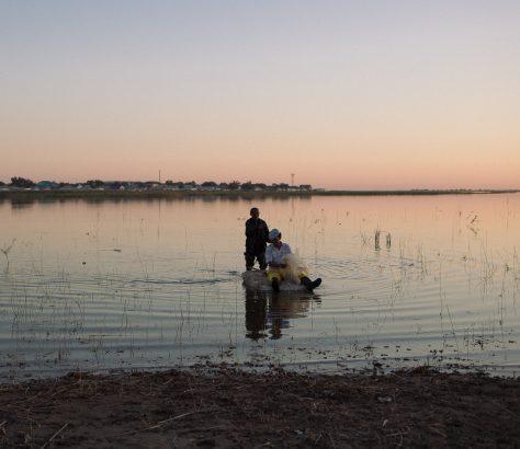 Schalqar Bootstour Kasachstan Bild des Tages Tien Tran