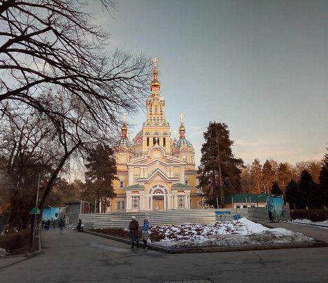 Panfilov Winter Frühling Almaty Kasachstan Bild des Tages