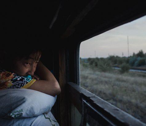 Im Zug durch Kasachstan