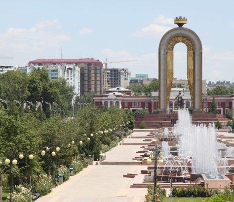 Oase Rudaki-park Duschanbe Tadschikistan Bild des Tages
