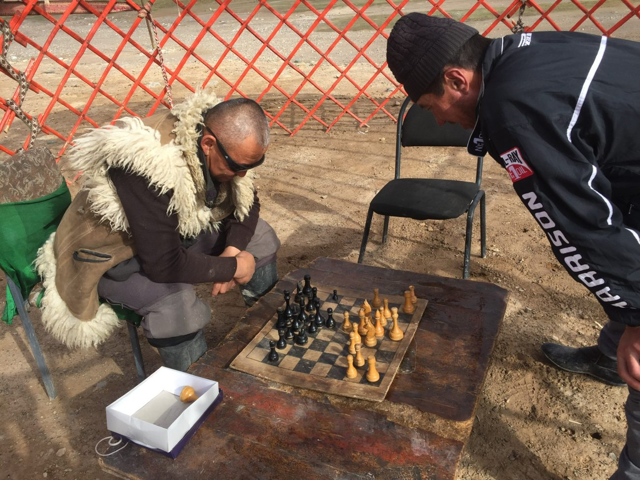 Kirgisische Schachspieler in Murghab