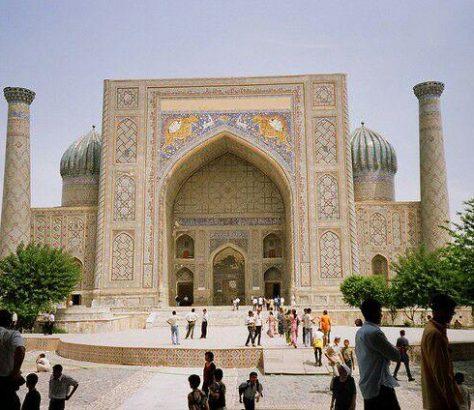 Die Sher-Dor Mädresse in Samarkand