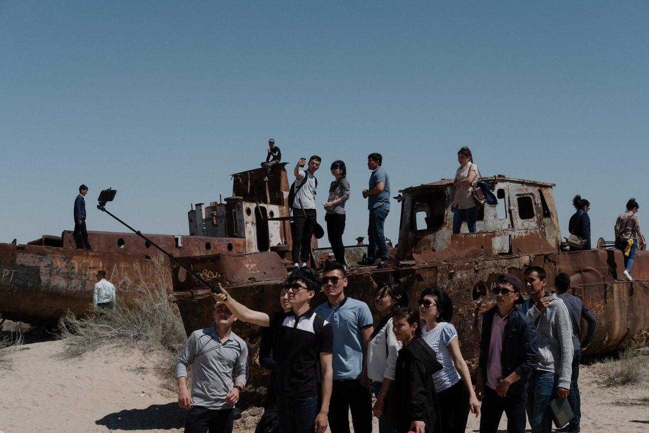 Selfies Tourismus Timur Karpov Aralsee Usbekistan Muynaq Muinak
