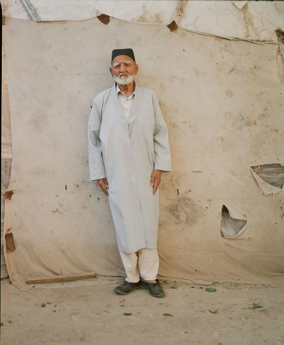 Portrait Mann Usbekistan Samarkand Hassan Kurbanbaev