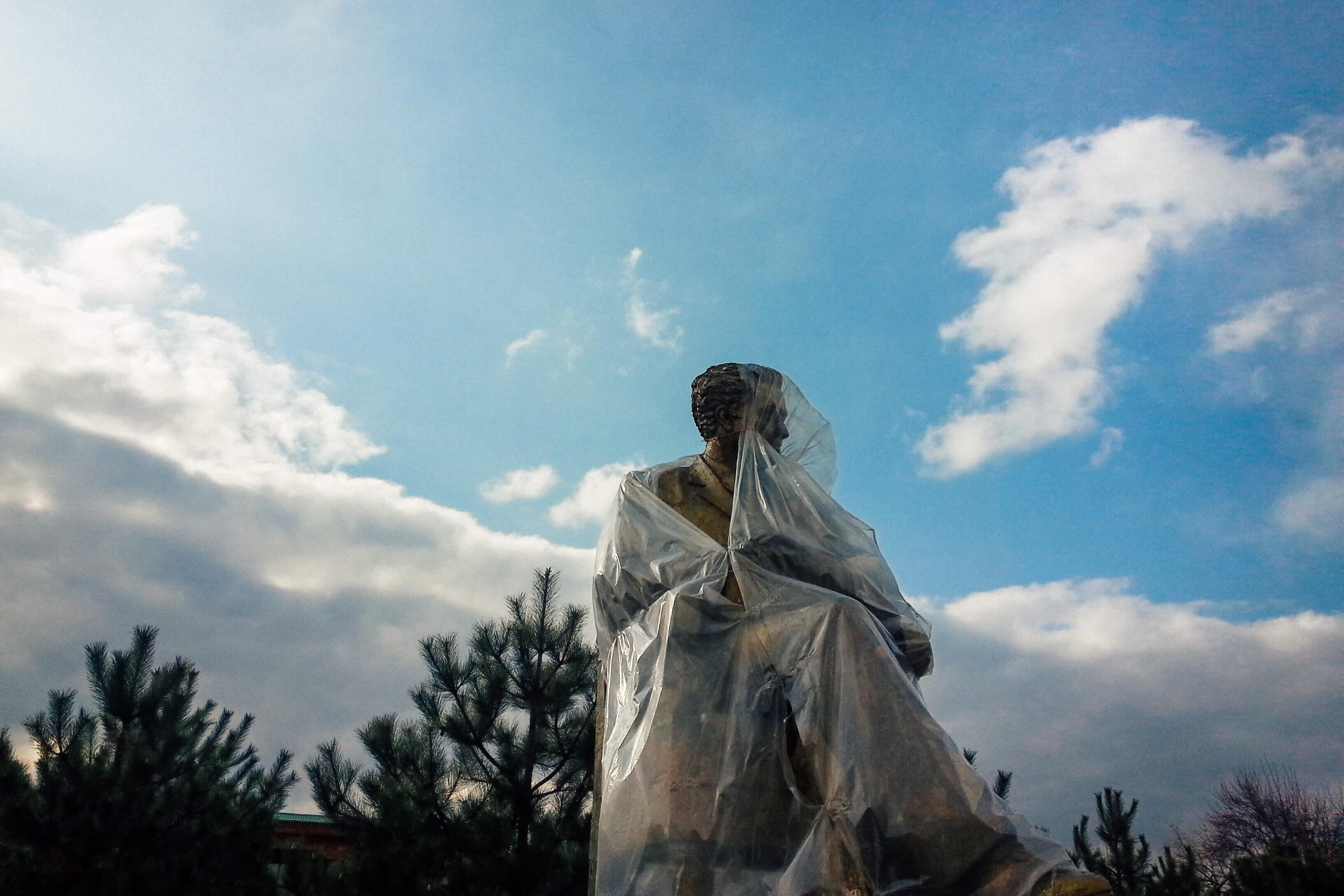 Denkmal Oibek Schriftsteller Alisher-Navoi-Park Taschkent Usbekistan