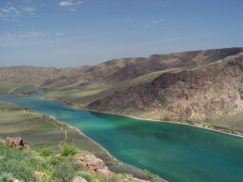 Landschaft am Fluss Ili