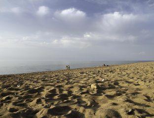 Sandstrand am See Issykköl