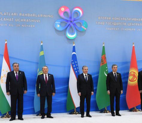 Gruppenfoto der fünf Präsidenten