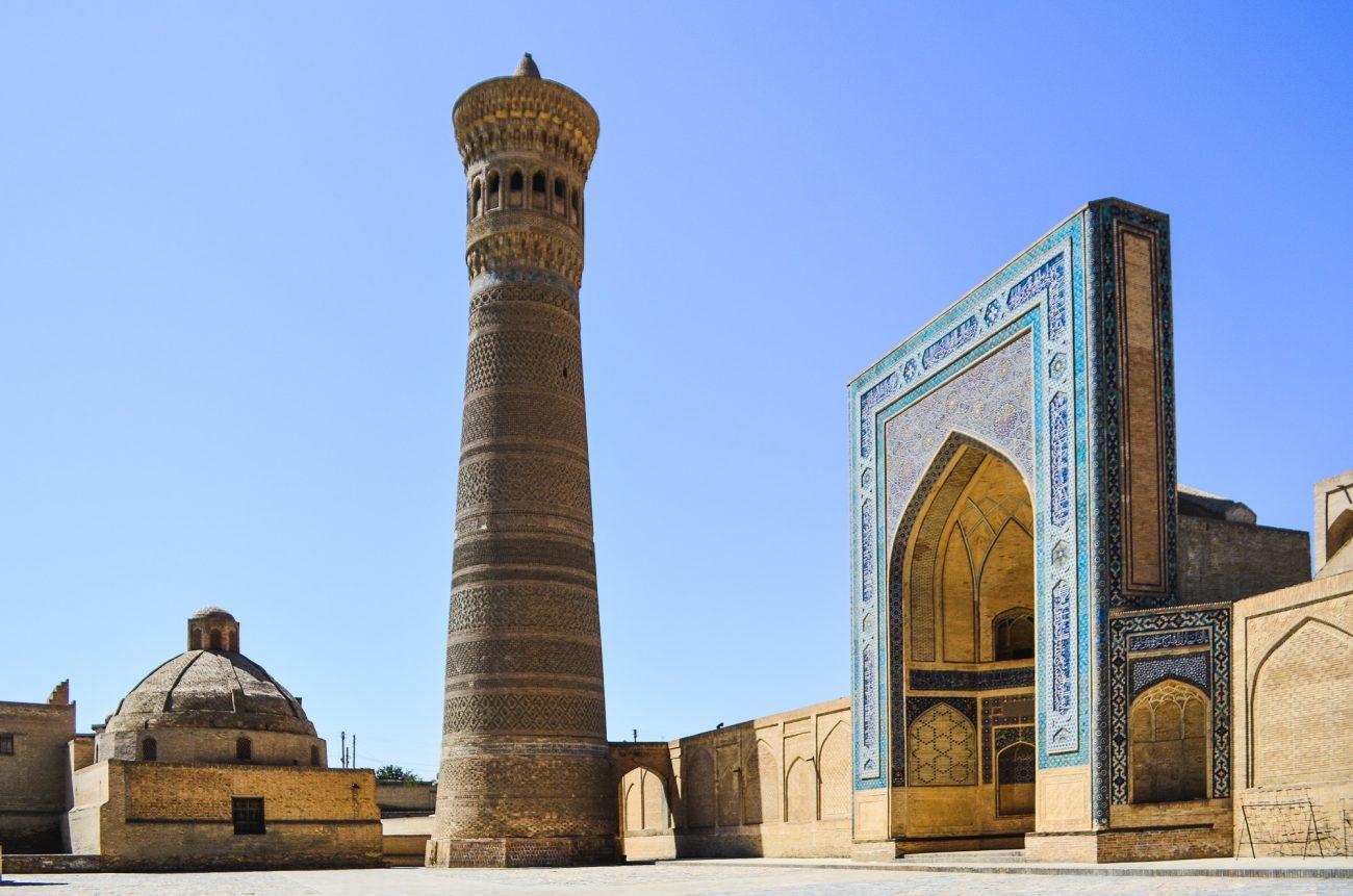 Blick auf das Minarett Kalon