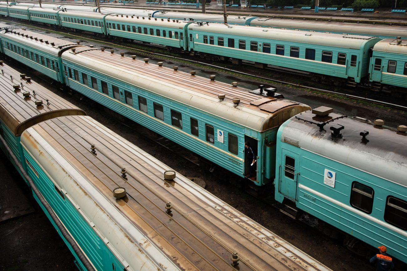 Auf den Gleisen von Almaty